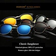 AORON Vintage Polarized Sunglasses women brand designer Retro men driving sun glasses men classics font b