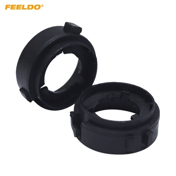FEELDO 2Pcs Auto LED Headlight H7 Sokets Adaptor Holder For Volkswagen MK6 Golf GTI 10-14 Lamp Base #5537 image