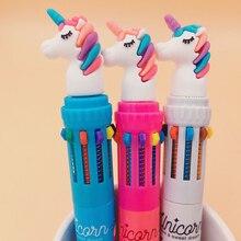 Kawaii Dream Unicorn Silicone Head BallPen 10 Colors Chunky Ballpoint Pen School Office Supply Gift Stationery Papelaria Escolar