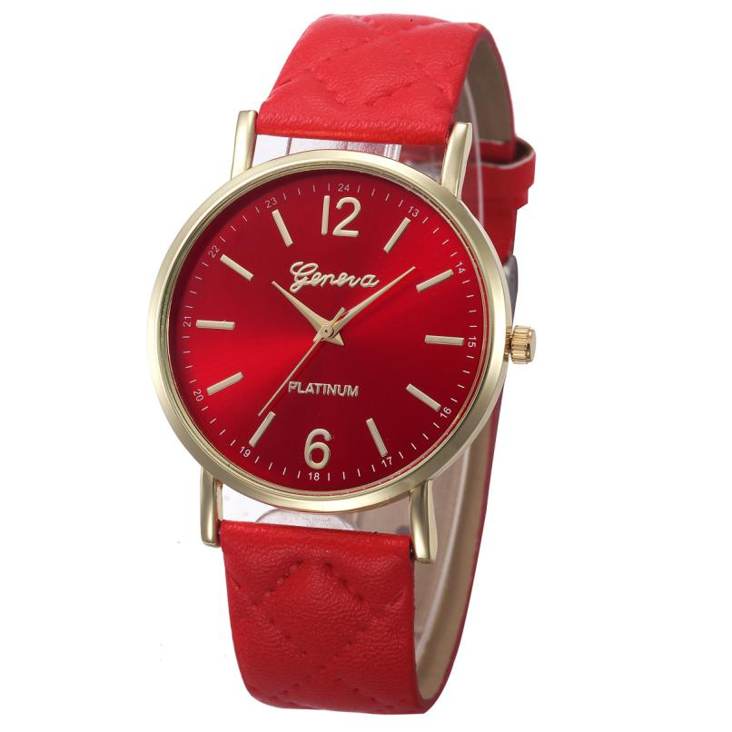 Fashion Women Casual Geneva Roman Leather Band Analog Quartz Wrist Watch Rose Gold Girls Gold ladies Hot Sale Flowers Dress M2 yoner hot sale business watch collection for office ladies fashion roman leather band analog quartz wrist watch