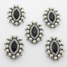 5pcs/lot Oval Rhinestone Buttons Flatback Embellishment for Women Mink Cloak Brooch, Bag, Shoes Choker DIY  Decorative