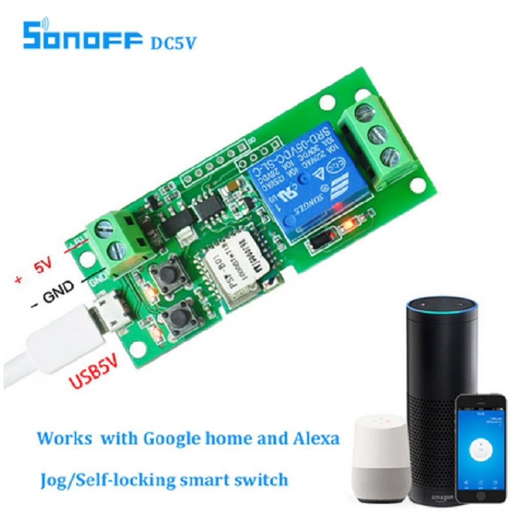 Sonoff Smart WiFi télécommande bricolage Module universel DC 12 V 32 V auto-bloquant Wifi commutateur de contrôle d'accès minuterie pour la maison intelligente