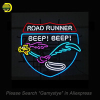 Road Runner Beep Neon Sign Neon Bulb Real Glass Tube Handcrafted Bar Pub Restaurant Advertising Tube
