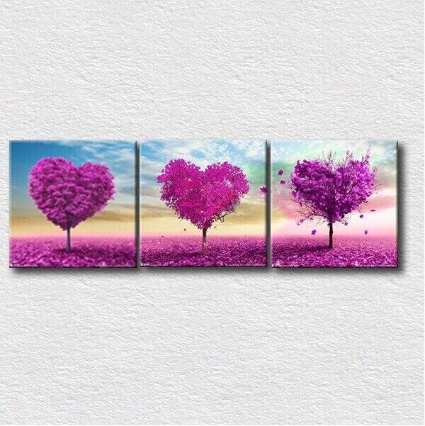 Hd Prints Modern Fotos Romântico Rosa Coração Paisagem Pinturas De Parede  Decoração Arte Da Parede Impresso