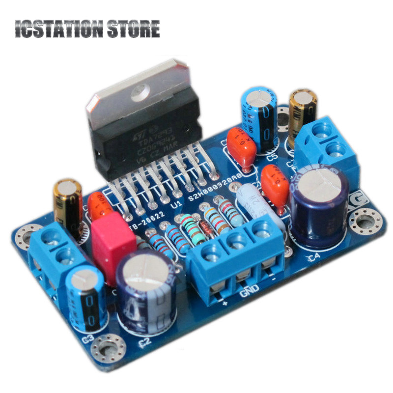 MINI Version TDA7293 100W Mono Amplifier Board DIY Kit sk3875 2015 black edition with protection suite lm1875 upgraded version of the diy power amplifier board