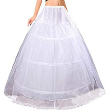 Женские свадебные 3 Обручи Макси-Длина юбка пояс на завязках Multi-Слои бальное платье свадебное платье суеты кринолин нижняя