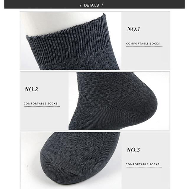 10 Pairs/Lot Men Bamboo Fiber Socks Casual Socks For Gift Plus Size 43-46 5