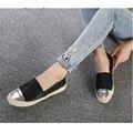 Primavera Outono Feminino Casual Loafer Slip-on Dedo Do Pé Redondo Das Mulheres Sapatos de Verão Preguiçosos Flats de Couro PU Saltos Grossos Senhoras Sapatos baixos