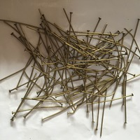 1000pcs 40mm Crystal Lamp Connectors Bronze Pins Tie Clips Bead Curtain Accessories Lighting Curtain Metal Connector