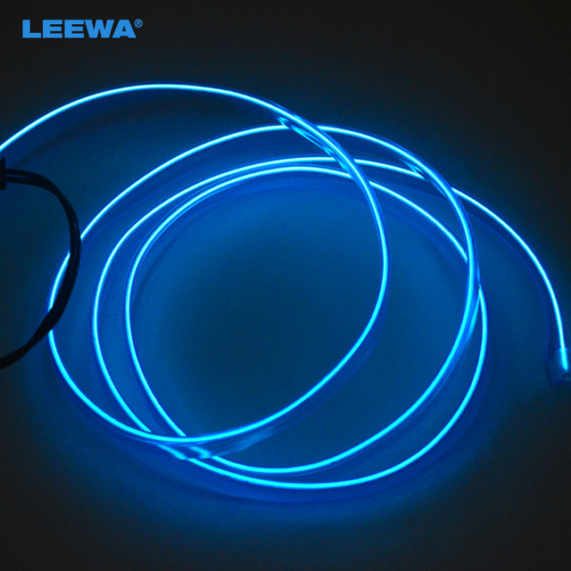 Blue 1m flexible moulding el neon glow lighting rope strip with blue 1m flexible moulding el neon glow lighting rope strip with fin for car decoration aloadofball Gallery