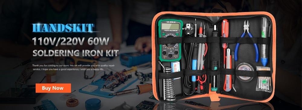 Kit de soldadura eléctrica multímetro de temperatura 110V 220V 60W