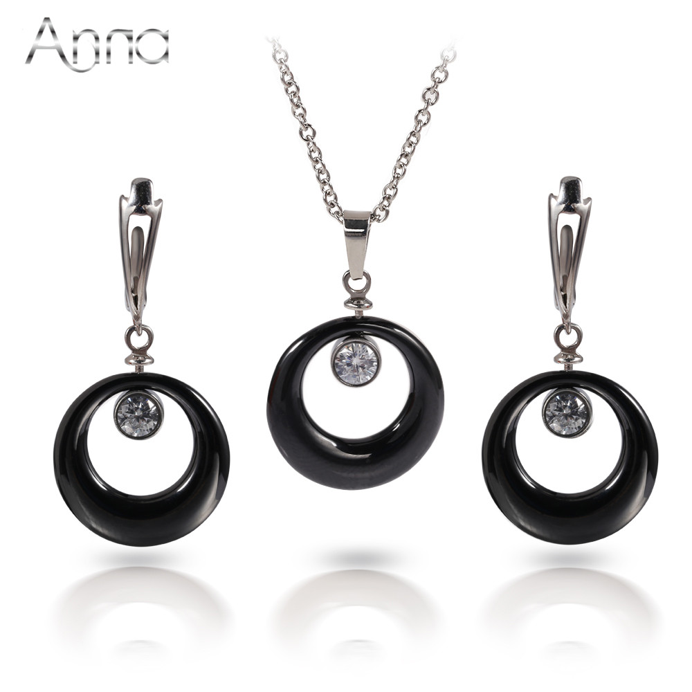A&N Ceramic Stainless Steel Jewelry Set s