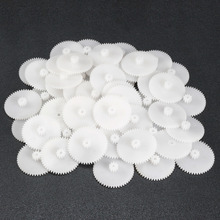 Uxcell 50pcs/lot 50T 56T 48Teeth Plastic Gear for 2mm Shaft Toy Accessories for DIY Cars Robot Motor Model Production Technology 2 sets green model miniature of delight mini solar car stepper motor diy for production technology teenage enlightenment toy