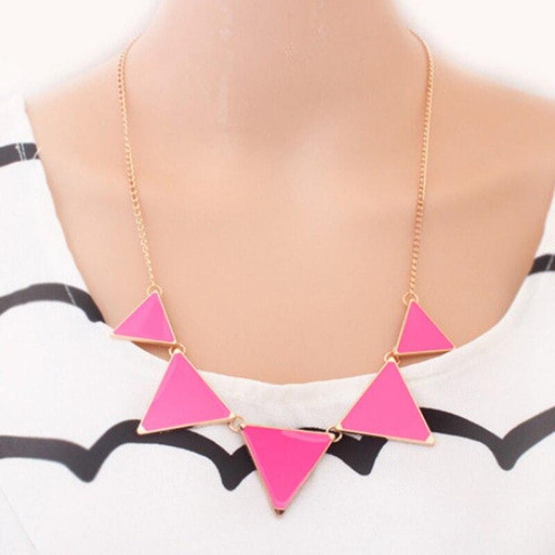 Collar de triángulo geométrico negro caliente Collar de gargantilla - Bisutería - foto 2