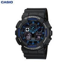 Наручные часы Casio GA-100-1A2 мужские электронные на пластиковом ремешке