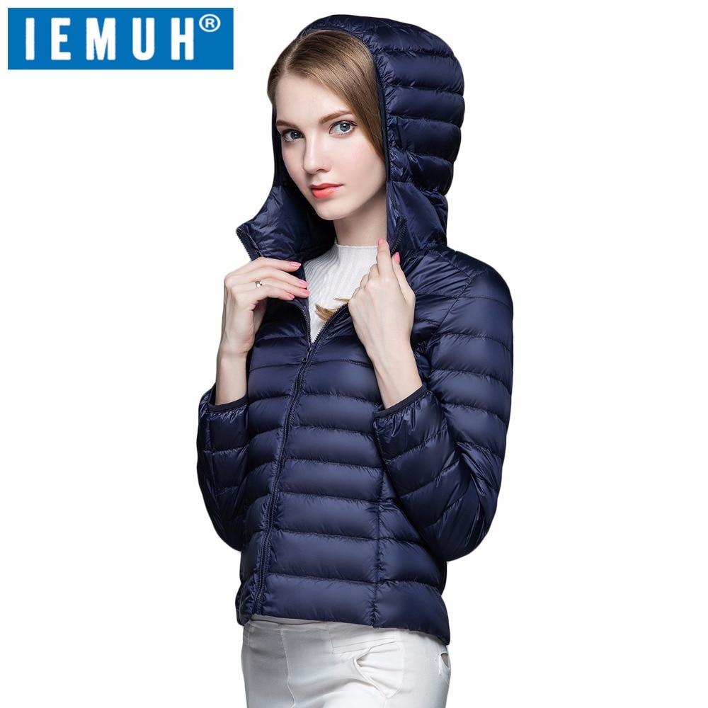 IEMUH Winter Womens down jacket Warm Coat Women Ultralight White Duck Down Jacket Female Long Duck Down Jacket Women Slim 2017