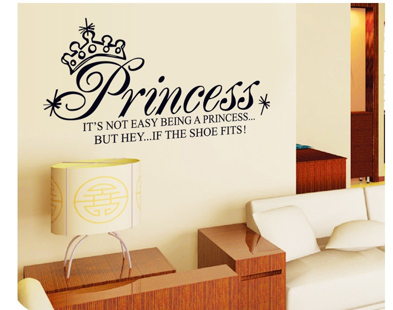 Cartoon Princess Home Decor Wall Stickers For Kids Rooms Diy