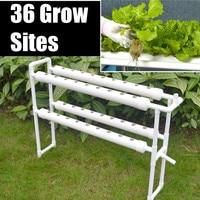 Plastic Hydroponic Grow Kit 220V 36 Sites 4 Pipes 2 Layer Garden Plant Vegetable Tools Box Nursery Pots Rack Garden Supplies