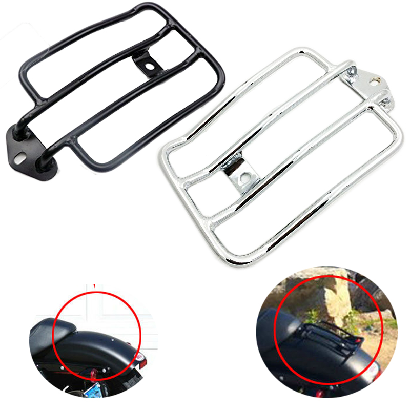 For Harley Sportster 883 1200 2004-2012 XL1200X Iron 883 Two XL1200V Raider Luggage Rack Stock Solo Seat Support Shelf Carrier