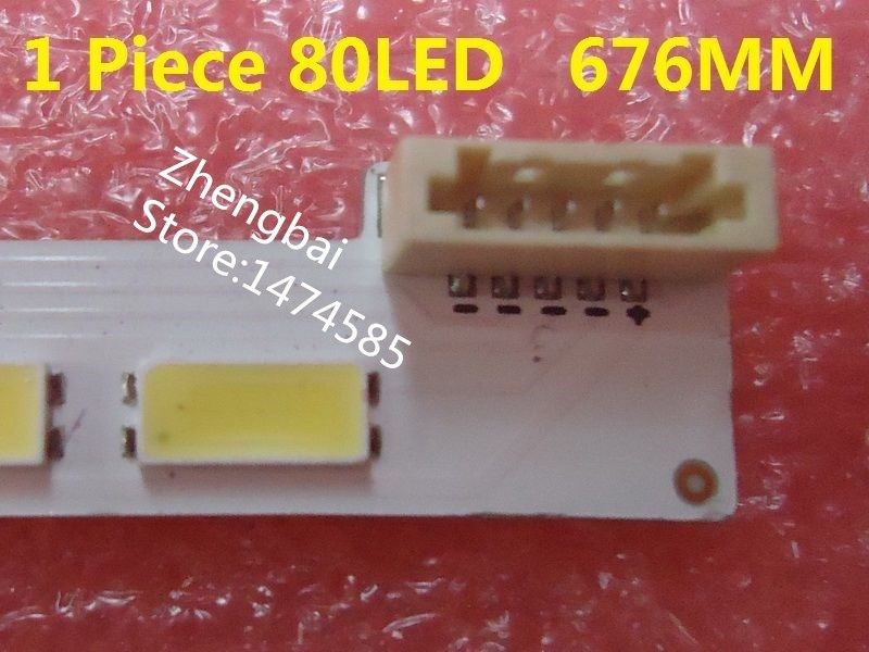LJ64-03479A LED strip SLED 2012SGS55 7030L 80 Rev1.0 1 pieces=80LED 676MM 2012SG555 1x 42mm 50m 3m9080 widely using 2 sides adhesive tape for dvd tv pda auto front panel screen led strip joint
