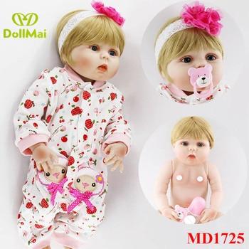 Full Body Silicone Vinyl Babies Reborn Dolls Realistic Alive 23 inch New Born Baby dolls gift for girls bebe Bonecas Rebron