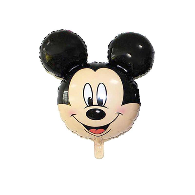 1 pc Mini Mickey Minnie Mouse hoofd folie ballon Kids Verjaardagsfeestje Decoratie Baby Shower Benodigdheden Opblaasbare ballonnen 35*30 cm