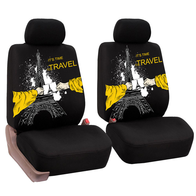 Wesheu Front Car Seat Cover Universal Animal Print Design Auto Styling For Truck Protector