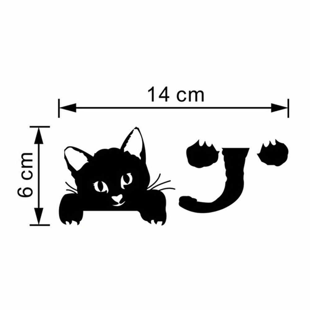 Hot Sale Cute New Cat Wall Stickers Light Switch Decor Decals Art Mural Baby Nursery Room Sticker PVC Wallpaper for living room