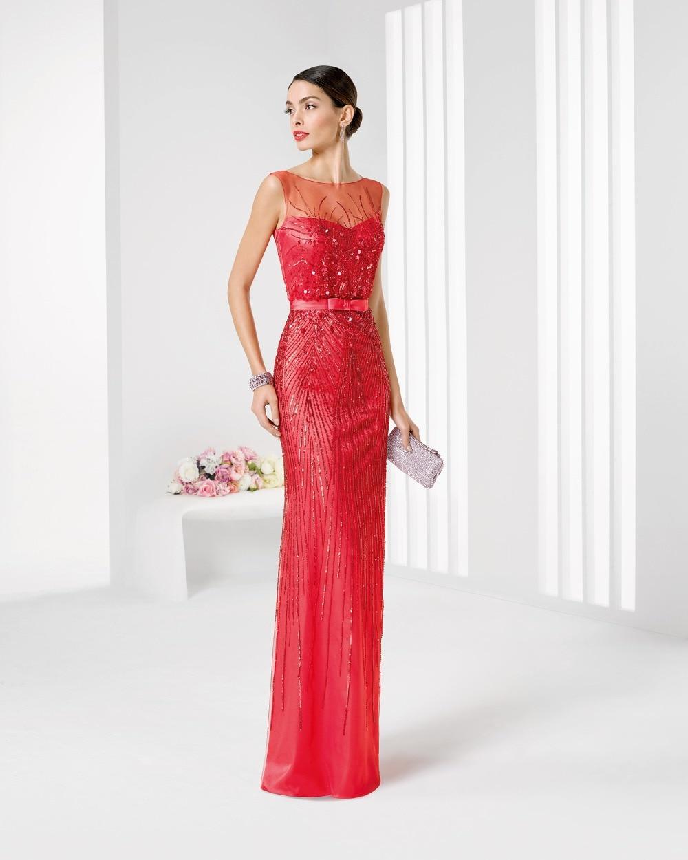 Modas de vestidos largos rojos