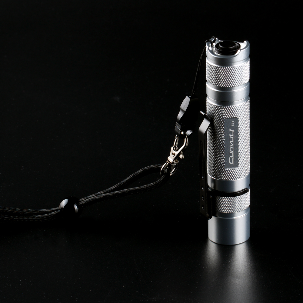 Convoy S2+ Cree XPL HI 1000lm LED Flashlight Torch,LED Lantern ,Camping Light, Lamp by 18350 Battery-Silvery tt tf ths 02b hybrid style black ver convoy asia exclusive