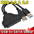 "Newest Gbps USB 3.0 + 2.0 to 22Pin SATA 2.5"" HDD Adapter Data Power Cable High Speed USB3.0 to 22 Pin SATA Hard Disk Drive"