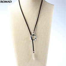 For Woman Metal Silver Pendant Choker High Quality Velvet Rope Necklace Jewelry for birthday present A40