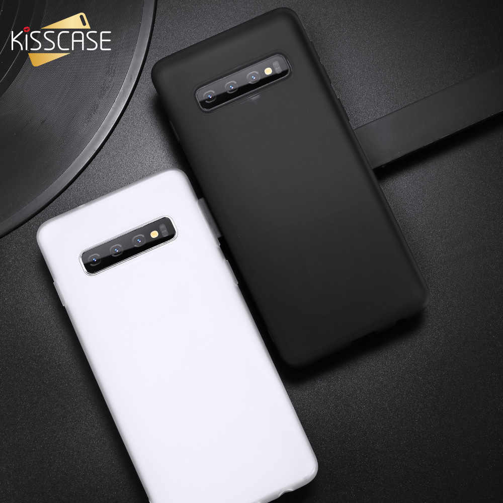KISSCASE Plain Soft TPU Case For Samsung S8 S8 Plus S9 S9 Plus S10 S10 Plus Cover For Samsung A8 2018 J4 Plus A7 2018 Back Cover