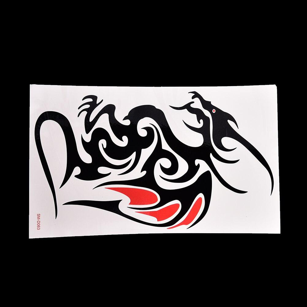 Водостойкая временная татуировка наклейка огонь пламя тотемный Дракон ястреб хна тату наклейка s флэш-тату поддельные татуировки для женщин и мужчин