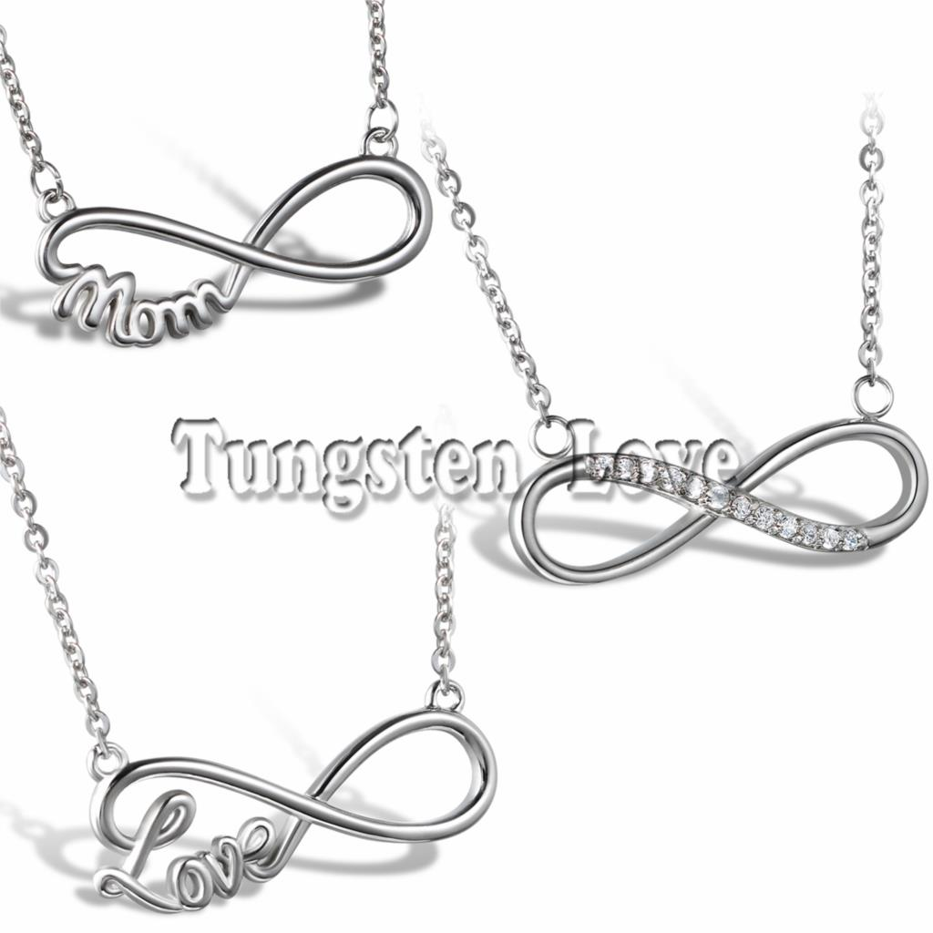 Fashion Stainless Steel Women Infinity Pendant Necklace