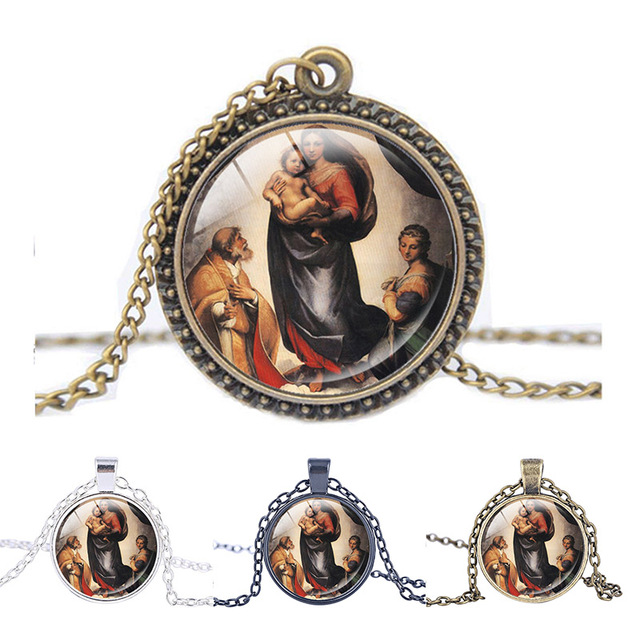 Collar Colgante De La Madine De Sistine