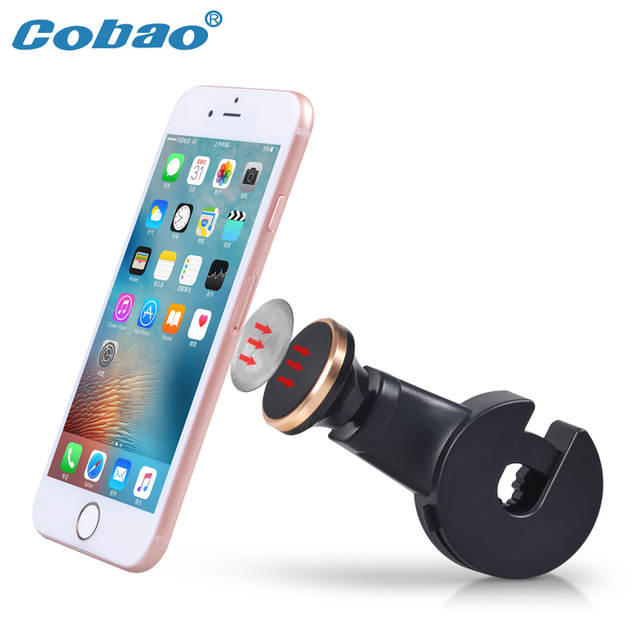 Cobao Back Seat Magnetic Car Phone Holder Universal 360 Degree Rotating Car  Rear Seat Magnet Cellphone Holder for Samsung iPhone