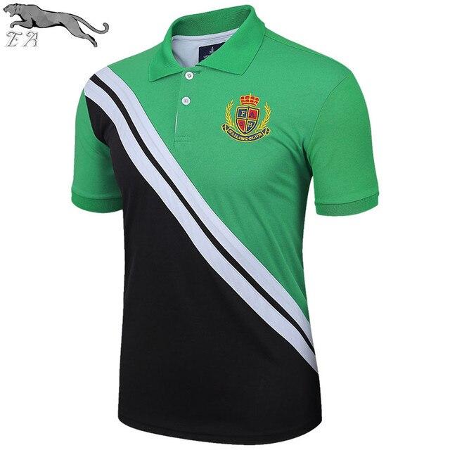 EA 2017 Summer Polo Men Fashion Slim Fit Men Polo Shirt Short Sleeve Plus Size Solid Casual Business Polo Shirt camisa wholesale