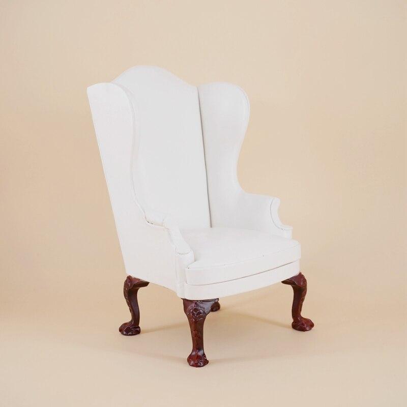 1 pcs 1:6 Miniature Canapé chaise pour poupées Dollhouse Meubles En Bois jouet pour enfants Enfants filles cadeaux Meubles Jouer à faire semblant jouets