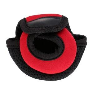 Image 3 - Kołowrotek wędkarski do rzucania przynęty osłony tarczy neoprenowy pokrowiec na kołowrotek odporny na zużycie kołowrotek torby czerwony/czarny 3.9x3.1x2.8 cala