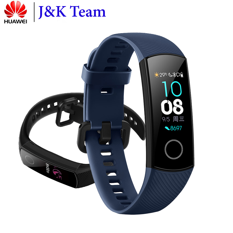 Huawei Honor Band 4 Smart Bracelet 50m Waterproof Fitness Tracker Touch Screen Heart Rate Monitor Display Call Message Show(China)
