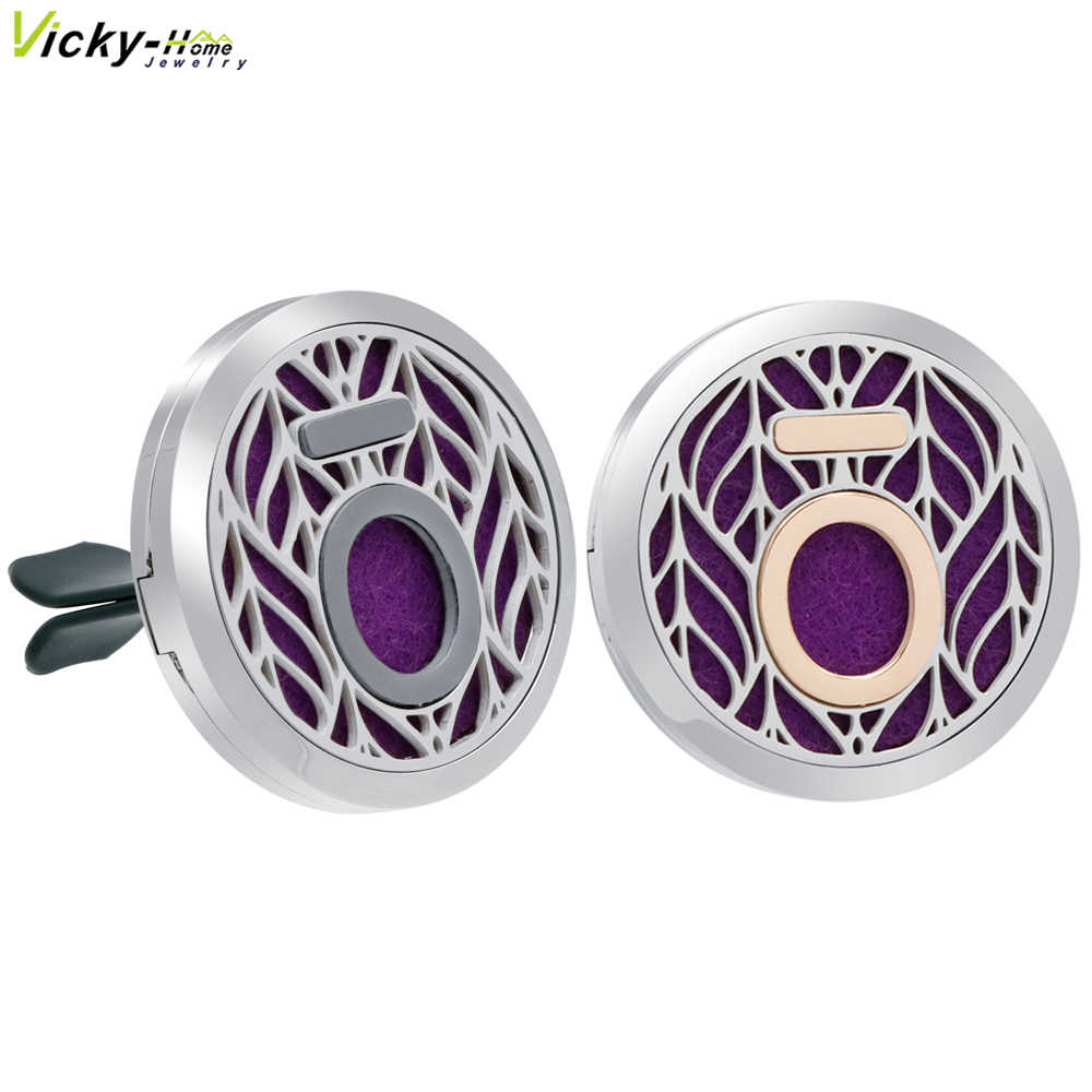New Doterra Car Clip Vent Aromatherapy Locket Pendants Essential Oils Stainless Steel Diffuser Locket with Pads Drop Shipping
