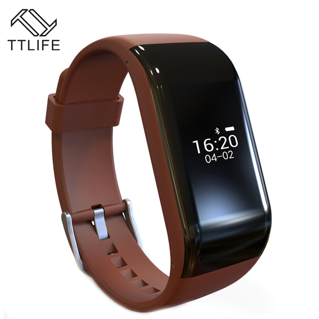 2016 TTLIFE Brand Smart Wristbands Sports Waterproof Bracelet for Android IOS with 120mAh Battery Bluetooth 4.0 Alarm Anti-lost