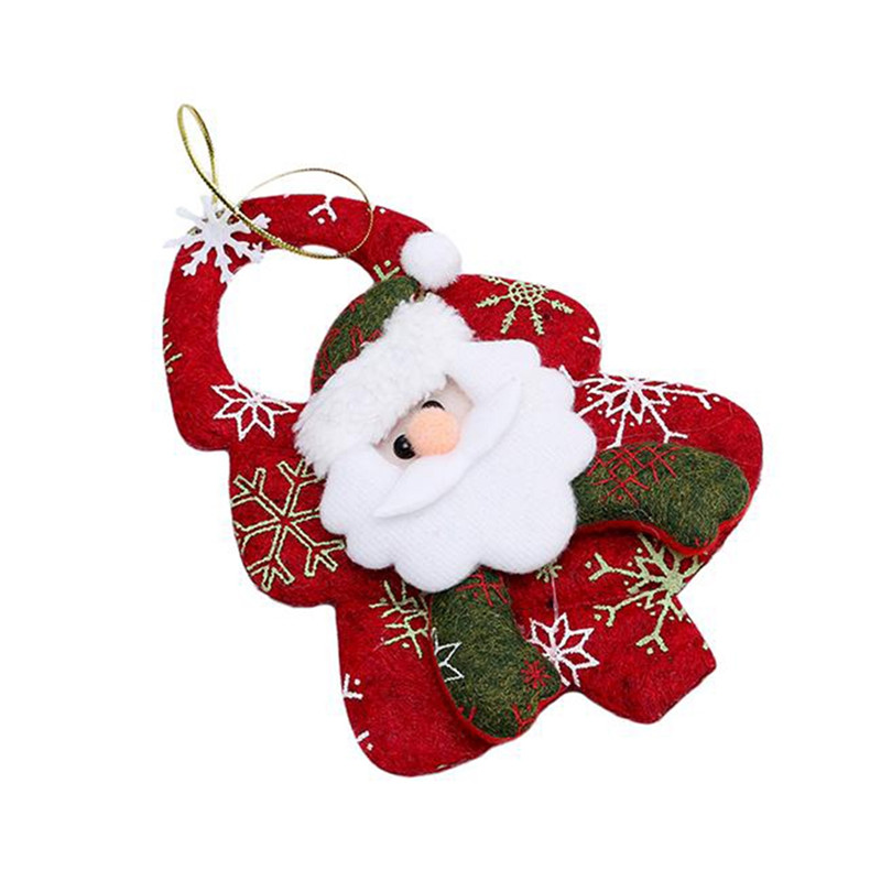 aomu new christmas ornaments christmas tree santa claus pendants drop christmas decorations home decoracion key chain in key chains from jewelry - Christmas Chain Decorations