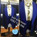 Nova Chegada 2017 Elegante Jaqueta Azul Royal Azul Lapela Padrinhos Homens Formais Blazer Smoking Ternos de Casamento Do Noivo (Jacket + calça + Colete)