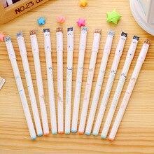 Кот гелевая ручка Симпатичные Цвет ручек Kawaii Канцелярские canetas Материал школьные принадлежности 1 шт.