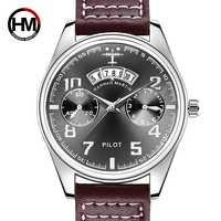 Príncipe piloto masculino relógio esportivo marca de luxo bayan kol saati data calendário negócios masculino erkek saat quartzo relógios à prova dwaterproof água