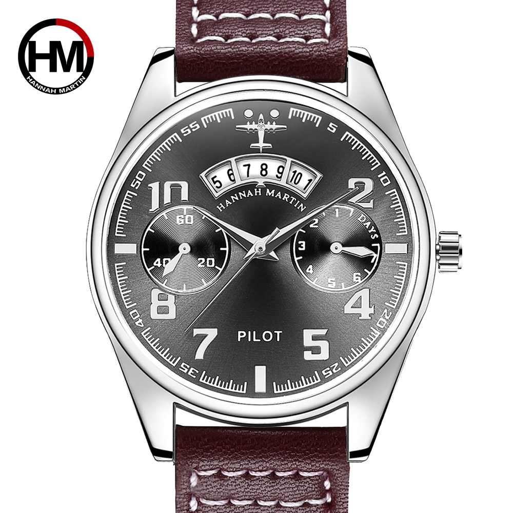 Prince Pilot Men Sports Watch Luxury Brand Bayan Kol Saati Date Business Calendar Men Erkek Saat Quartz Male Waterproof Watches fashion erkek saat quartz watch men julius sport relogio masculino montre homme marque de luxe bayan kol saati calendar week