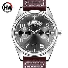 Цена Пилот для мужчин спортивные часы Элитный бренд Баян коль Saati Дата Бизнес календари для мужчин Erkek Saat кварцевые Мужской водонепроница…