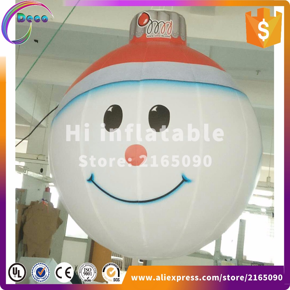 1m New Style Inflatable Christmas Decorations Ball,inflatable Christmas  Snow Man(china)